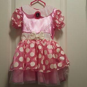Pink Minnie Mouse Dress - 2T